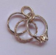Sterling Silver Three ring Charm